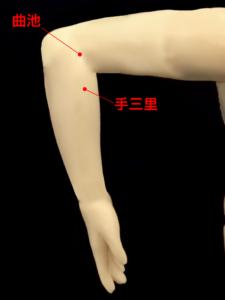 首のこり、首の痛みのツボ(曲池、手三里)|住吉区長居西藤田鍼灸整骨院